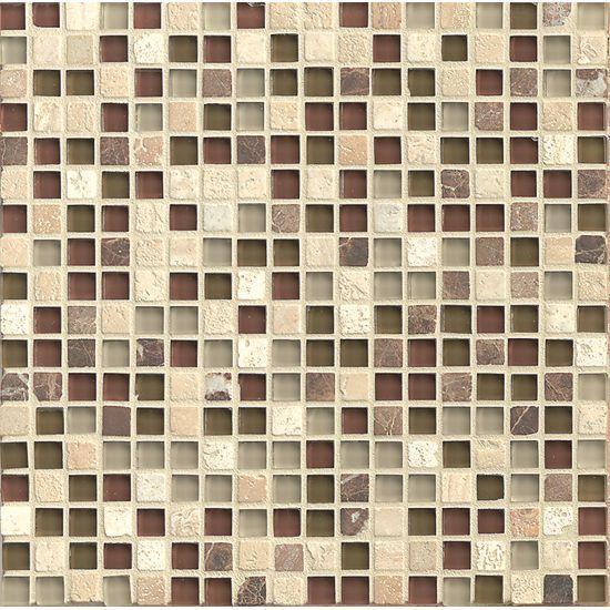 Eclipse Merlot 0.62x0.62 Square Glossy Glass  Mosaic