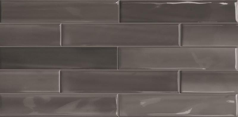 Porcelain Shadebrick Dark Polished 3x12   Tile