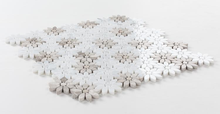 Daisy Wild Loft Flower  Marble  Mosaic