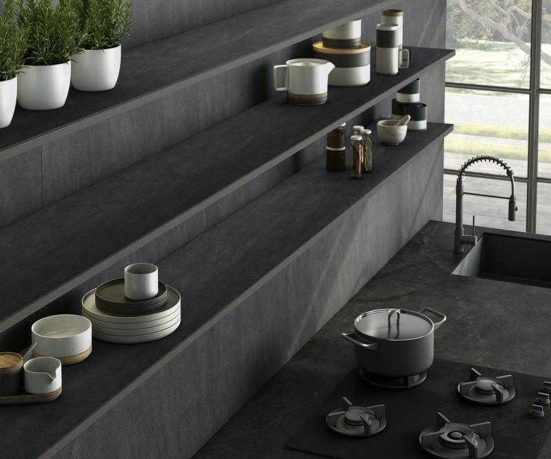 Group 1 Natural Tiles Bromo Suggested Size 56x62, Textured, Dark Grey, Porcelain, Tile