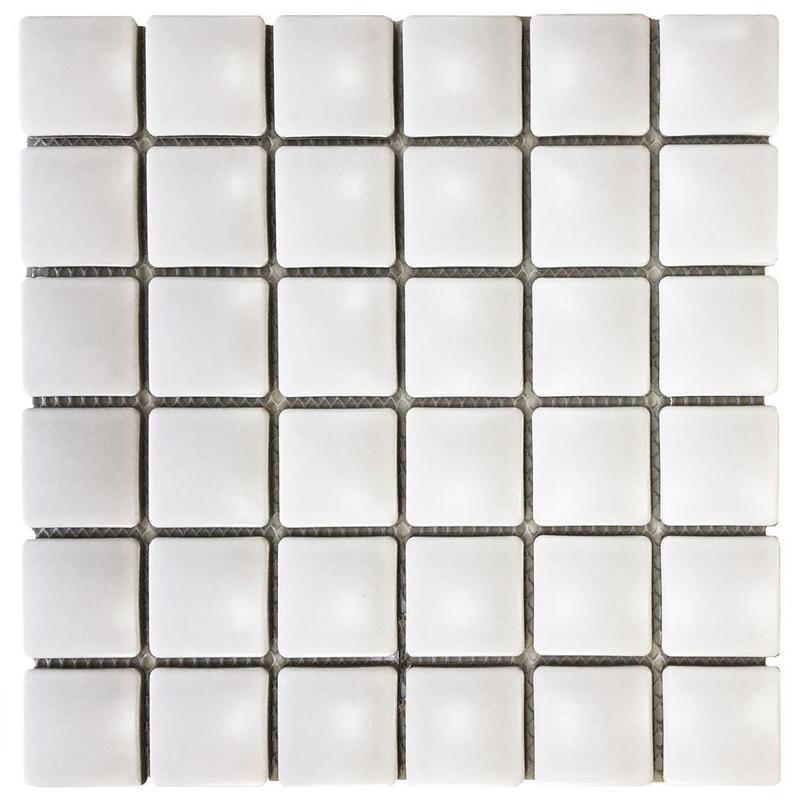 Pillow White 1.75x1.75 Square Matte Porcelain  Mosaic