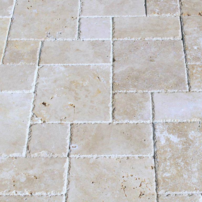 Walnut Cobblestone Travertine Tile 24x24 Tumbled