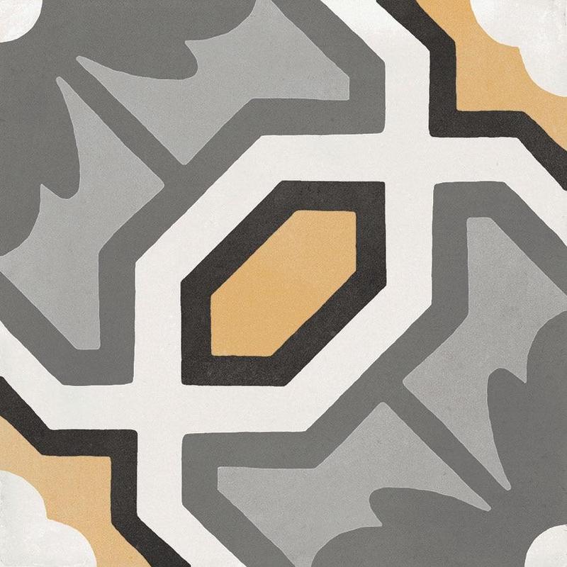 D Segni Colors Honeycomb Deco 8x8, Glazed, Square, Porcelain, Tile