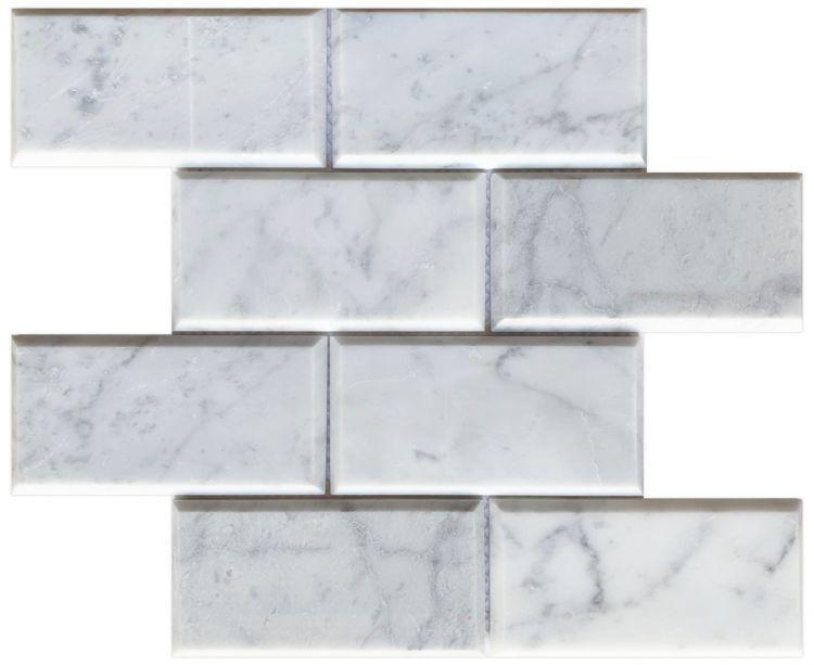 Precious Stone Carrara Clio Subway Polished Marble  Mosaic