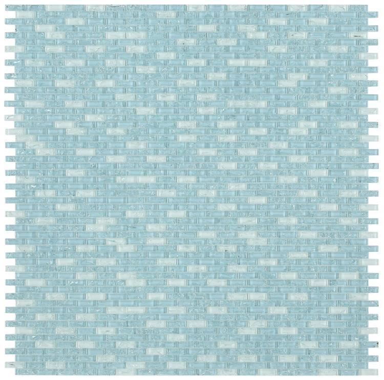 Icy Ocean Linear, Stack  Glass  Mosaic