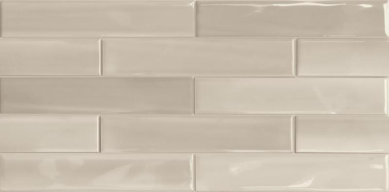 Porcelain Shadebrick Taupe Polished 3x12   Tile
