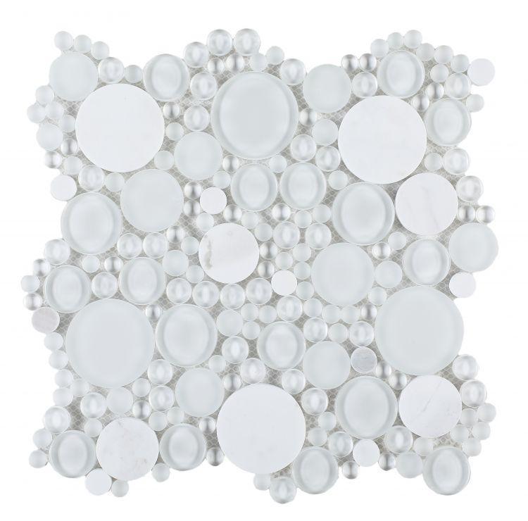 Lady Oompa Carrara Circular  Glass  Mosaic