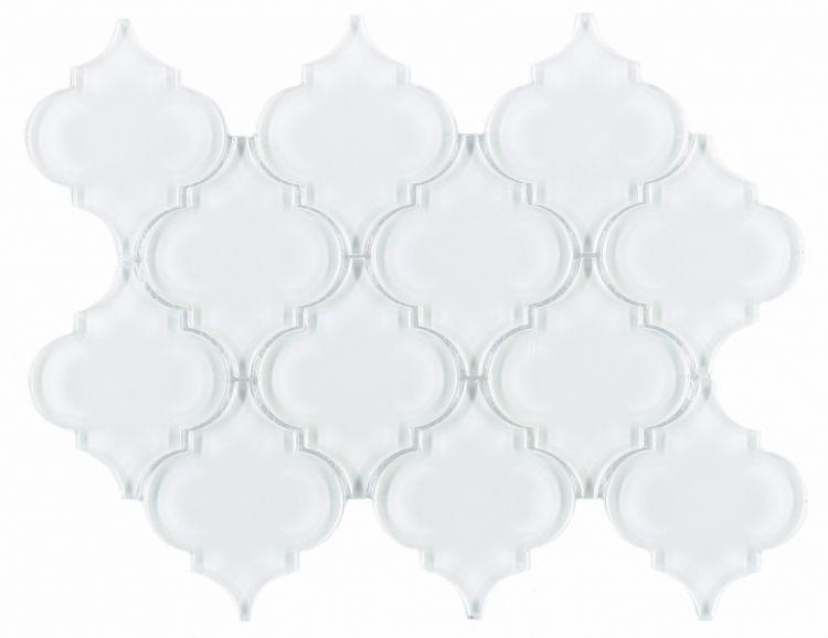 Arabesque Aladdin White Shining Glossy Glass  Mosaic