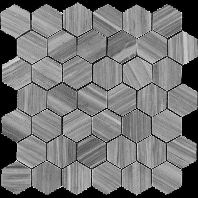 Marble Bardiglio 2 in Hexagon Polished   Mosaic