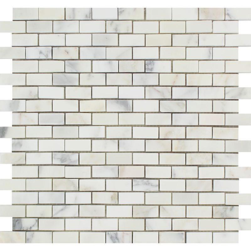 Marble Calacatta Gold 0.63x1.25 Brick Honed   Mosaic