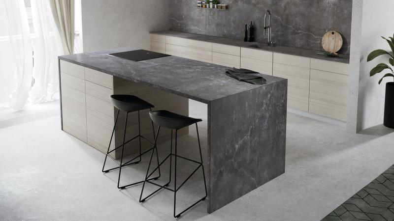 Group 2 Industrial Tiles Laos Suggested Size 28x62, Smooth-Matte, Dark Grey, Porcelain, Tile