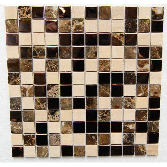 Stainless Steel Mosaic Bronze Mirror Emperador Dark 1x1 Square Mix Mixed