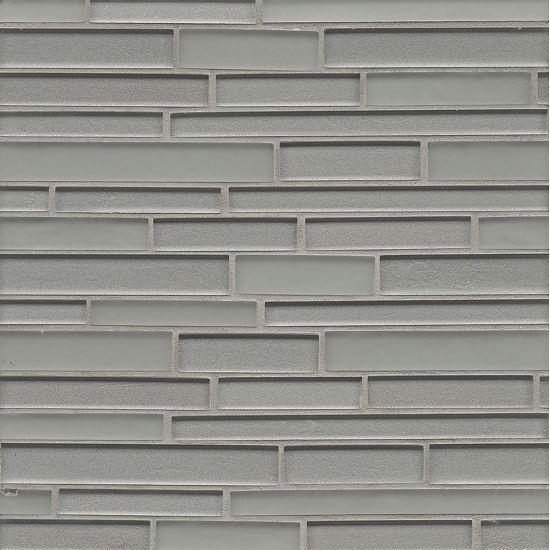 Manhattan Glass Platinum Linear Glossy   Mosaic