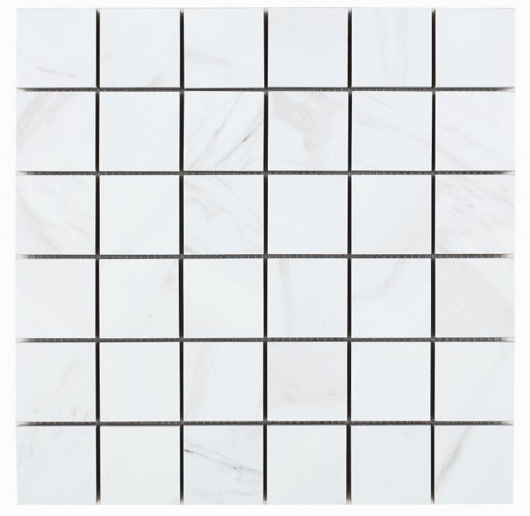 Volakas Premium 2x2 Square Matte, Glazed Porcelain  Mosaic