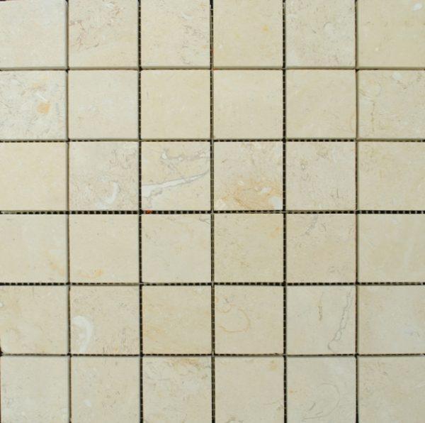 Limestone Dorado 1x1 Square Polished   Mosaic