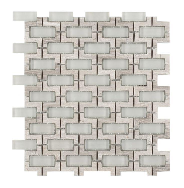 Louvre Sea Salt Brick  Glass  Mosaic