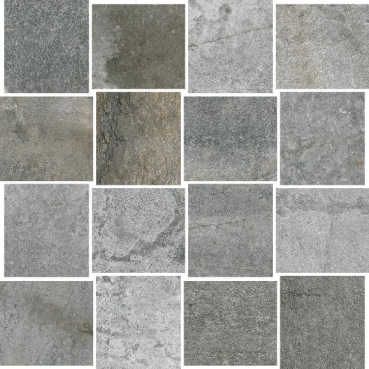 Climb Gray Hcl 5 2.5x3  Glazed Porcelain  Mosaic