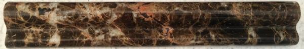 Emperador Dark Marble Trim 2x12 Polished    f2 chairrail, Ogee