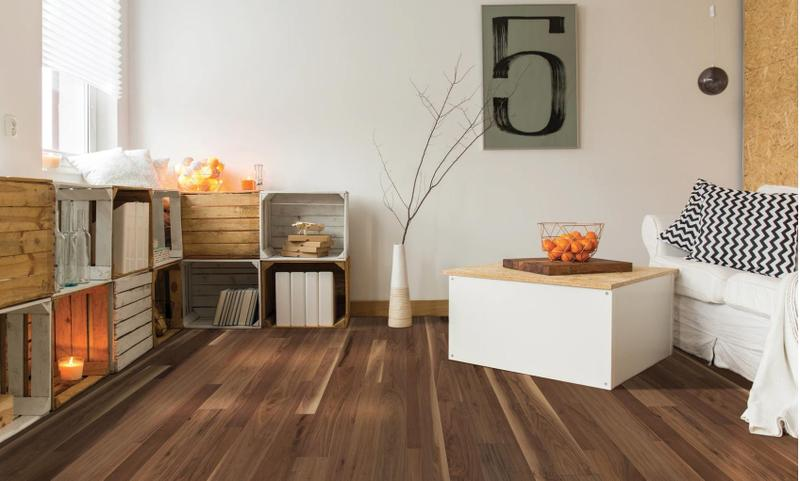 Seneca Valley Collection Bethesda Free Length, Smooth, Brown, Black-Walnut, Engineered-Wood