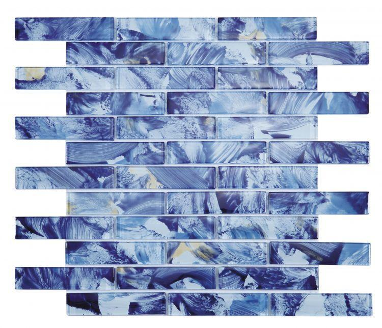 Linear Glass Watercolor Ocean Glossy   Mosaic