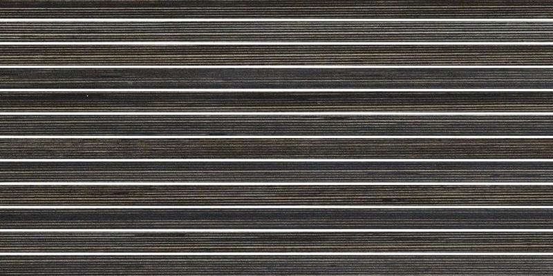 Shibusa Wenge 1x24 Straight Stacked Textured Porcelain  Mosaic