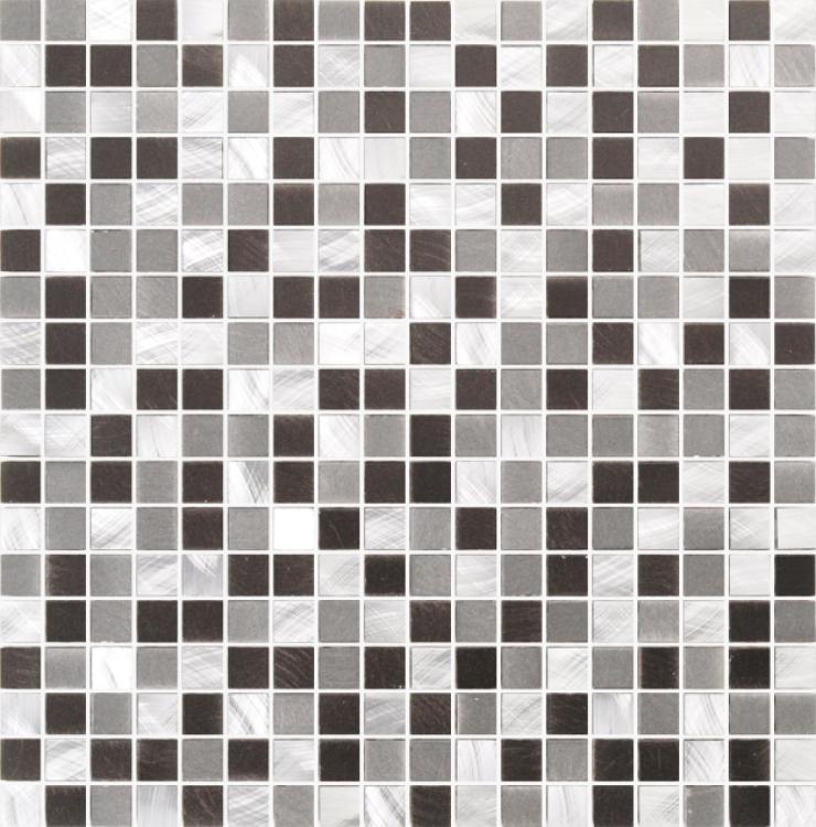 Metal Mythos Grey 2/3x2/3 Mini, Square Brushed   Mosaic