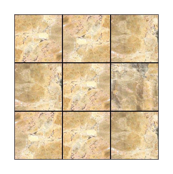 Tumbled Stone Giallo Antico 4x4 Square  Marble  Mosaic