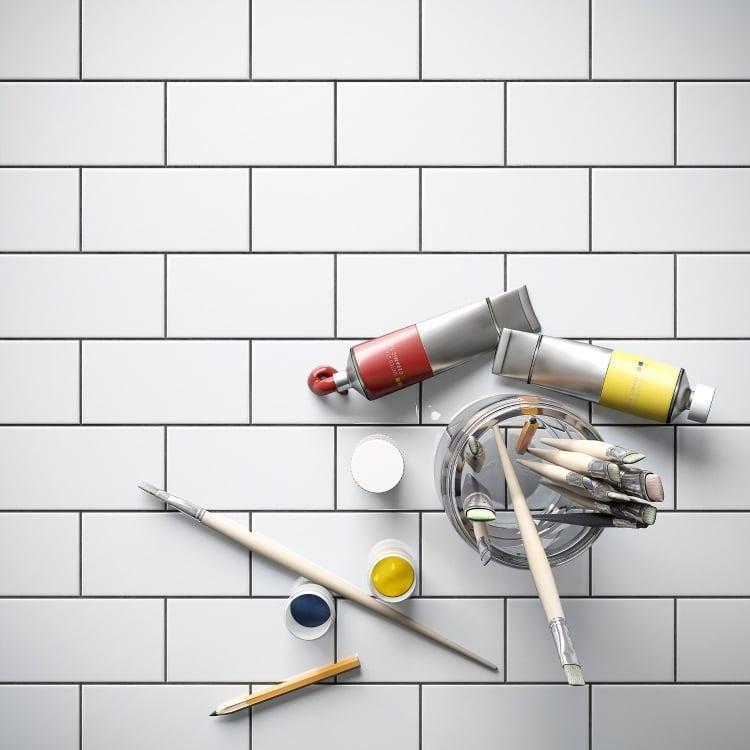 Bare White 3x6, Glossy, Ceramic, Tile