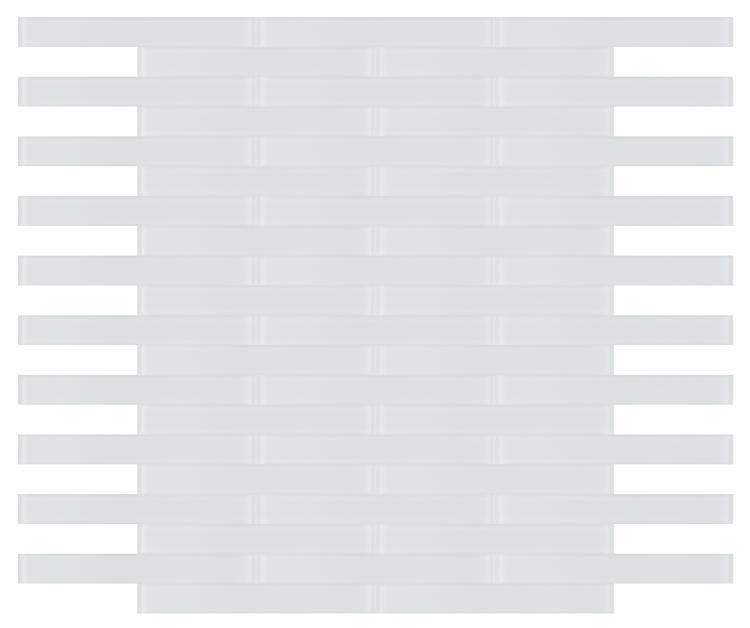 Large Glass Tile Mia White Frosted Subway Matte   Mosaic