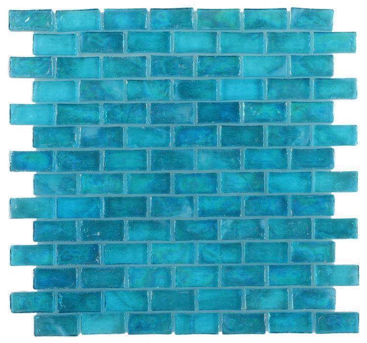 Malibu Azul Brick  Glass  Mosaic
