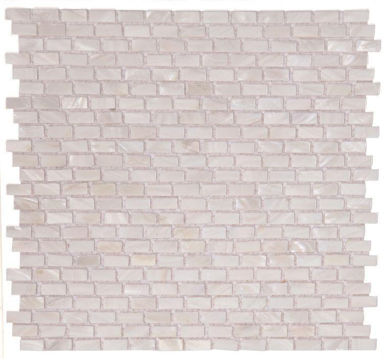Pearl White Mini, Brick    Mosaic
