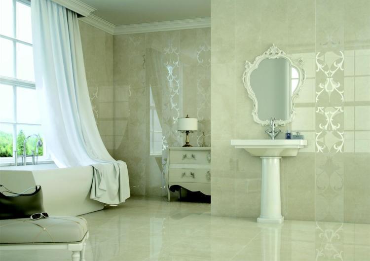 Crema Natural Brillo Polished, Glazed 24x24 Porcelain  Tile