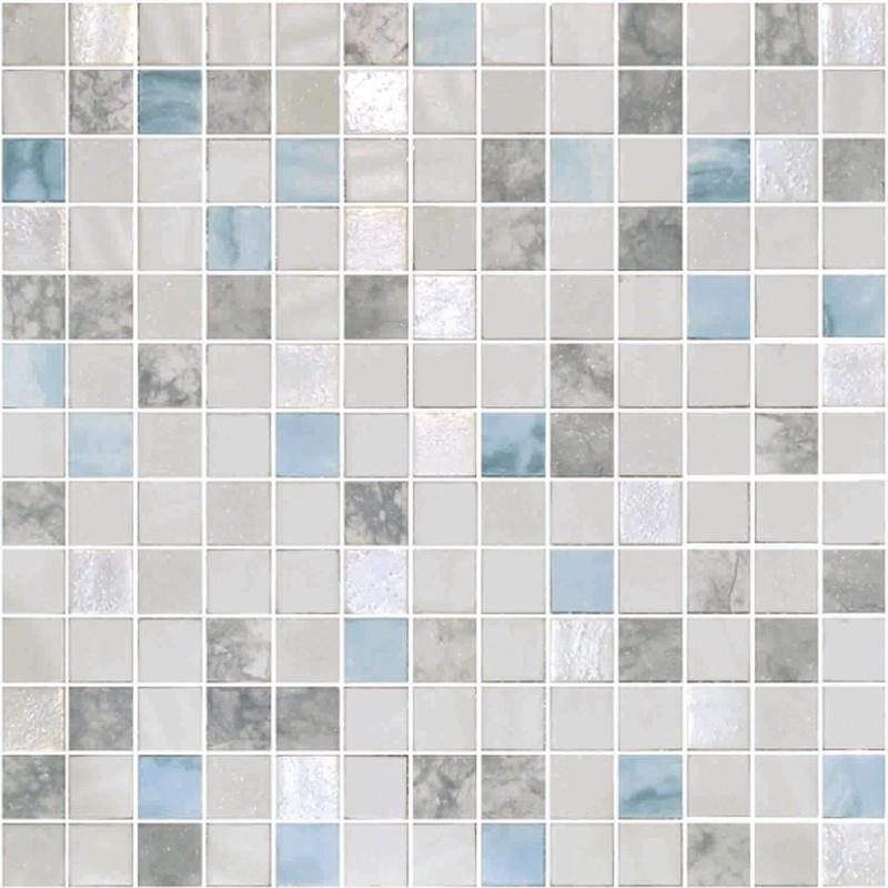 Onix Essence Cararra Blends Macauba 1x1  Glossy Glass  Mosaic