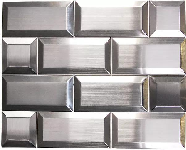 Stainless Steel Mosaic 3x3 Square