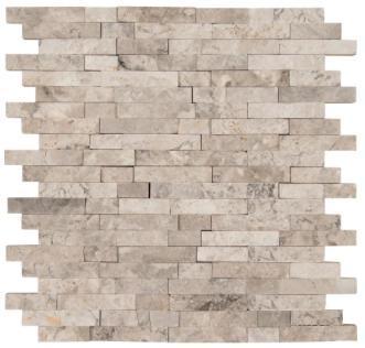 Tundra Gray Atlantic Marble 1x2 Brick Split-Face   Mosaic