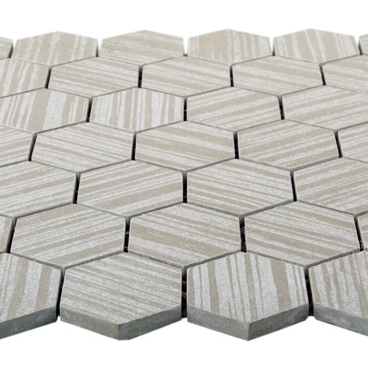 Horizon Grey 2x2 Hexagon  Porcelain  Mosaic