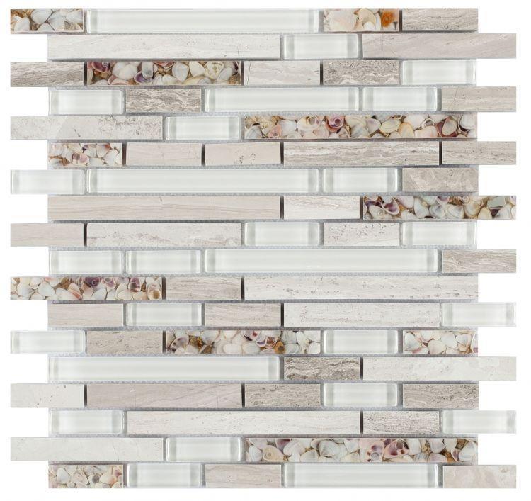 Linear Glass Sea Mosaic