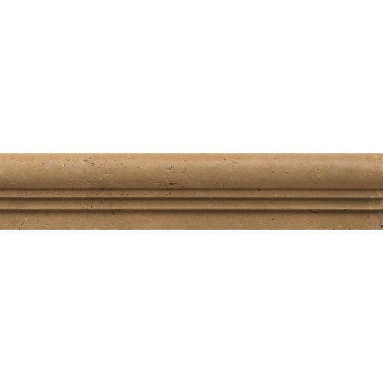 Noce Travertine Trim 2x12 Honed   1 in V Cap