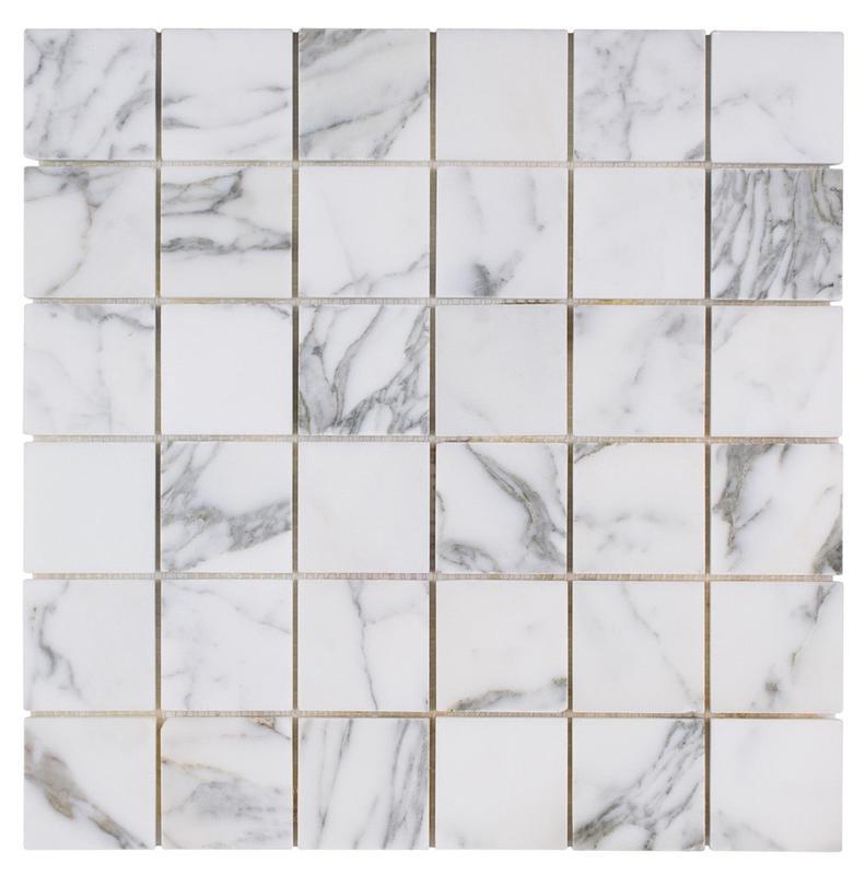 Marble Calacatta Gold 2x2 Square Honed   Mosaic