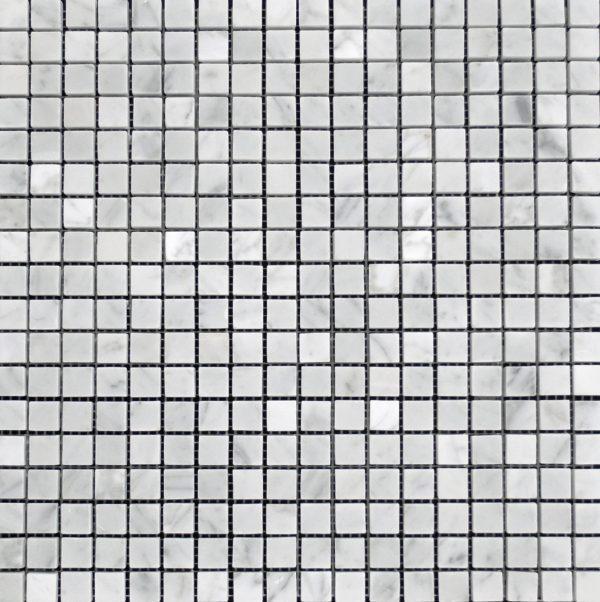 Marble Carrara White 1x1 Mesh Polished   Mosaic