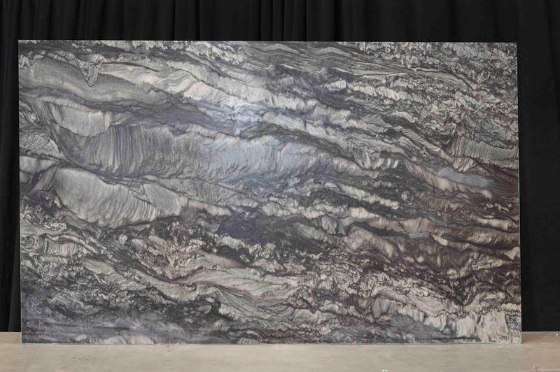Quartzite Black Sandlus 20 mm Leather  Slab