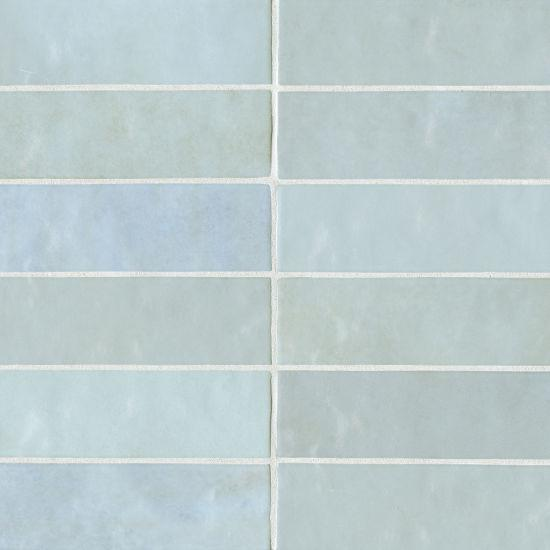 Cloé Baby Blue Glossy 2.5x8 Ceramic  Tile