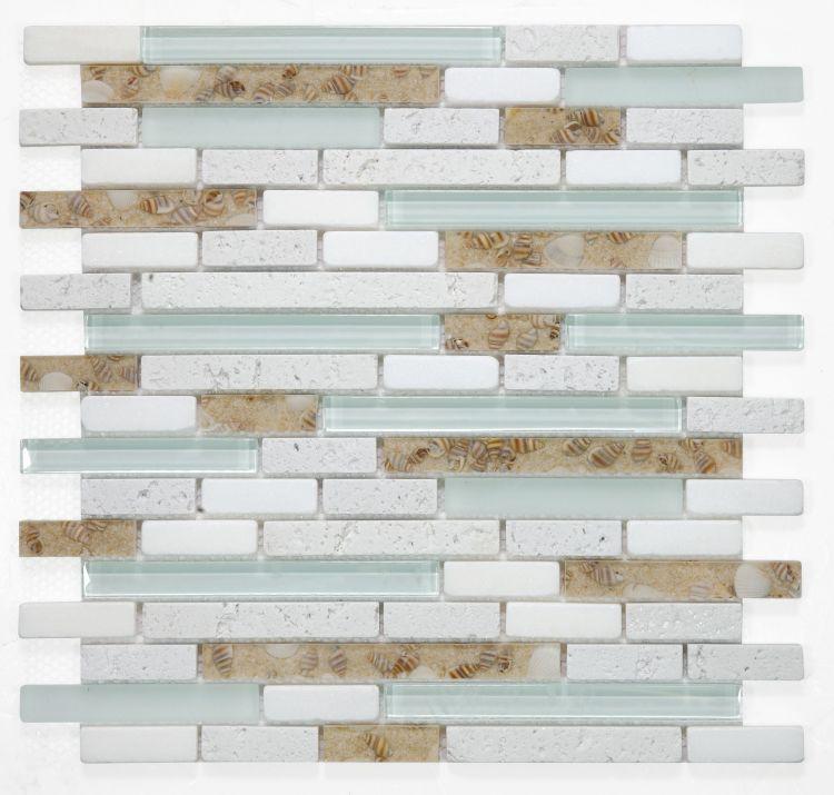 Linear Glass Pelasgus Light Stacked    Mosaic
