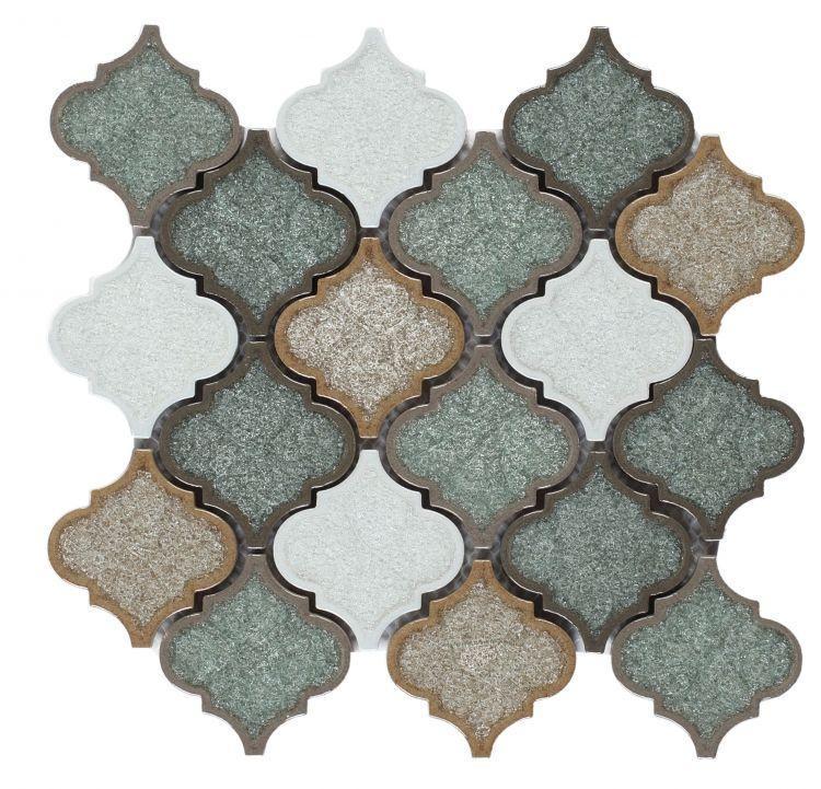 Jewel Lyrics Forest Arabesque  Glass  Mosaic
