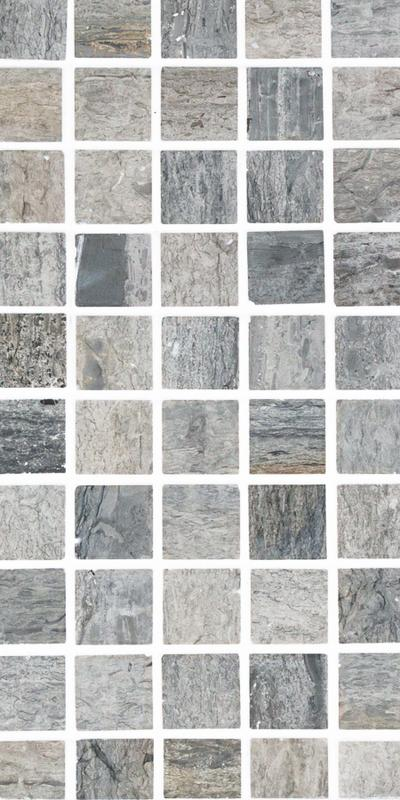 Sto Re Wooden Blue 1-1/8x1-1/8 Square Polished Natural Stone  Mosaic
