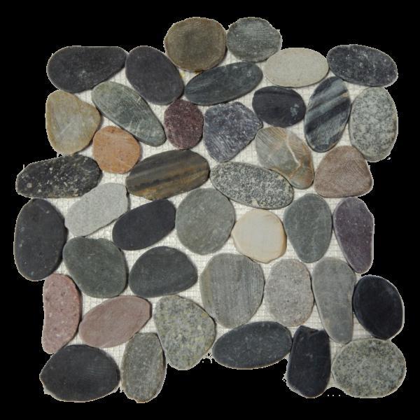 Pebble Mosaics Flat Polished Multi Color Mosaic