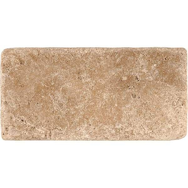 Walnut Travertine Tile 3x6 Tumbled