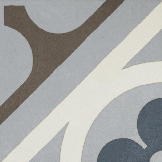 Cementine Retro 1 8x8, Glazed, Square, Porcelain, Tile