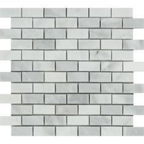 Marble Bianco Venato Brick 2x4 Polished   Mosaic