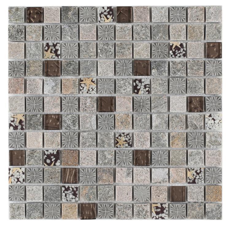 Diamond Selene Winter 1x1 Square  Glass  Mosaic